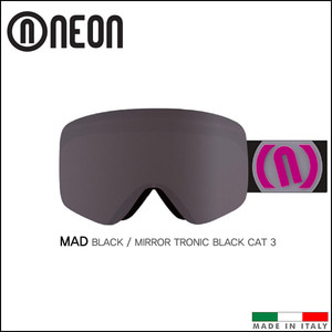 네온 MAD 스키 스노우보드 고글 (Black-Violet/Mirror Tronic Black Cat 3)